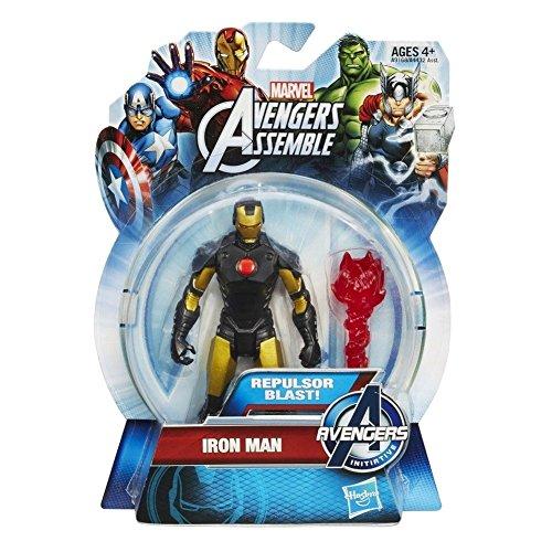 Iron Man Repulsor Blast Gold/Black Avengers Assemble All-Star Action Figure - 1