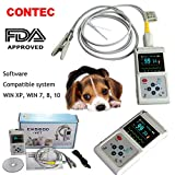 CONTEC CMS60D-VET Veterinary Pulse Oximeter Vet SPO2 Pulse Rate Monitor Ear/Tongue SPO2 Sensor