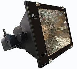 [ Best Seller ] Euro Flood Light MH 70 watts Made in taiwan - Heavy Duty - Toughend Glass - German Reflector - Heavy Duty Ballast - High Luminosity White 70 watt Lamp - Steel Screw