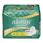Always Ultra Thin Unscented Pads with...