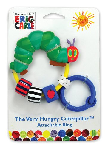 World of Eric Carle, The Very Hungry Caterpillar Attachable Bead Rattle by Kids Preferred - 1