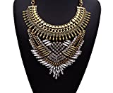 Girl Era Multi-Leaves Turquoise Jewelry Necklace Hot Fashion Filigree Necklaces