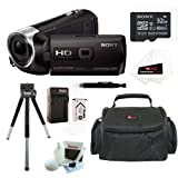 Sony HDR-PJ275/B 8GB Full HD 60p Camcorder w/ built-in Projector + Sony MicroSD 32GB + Accessory Kit