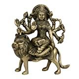 """Religi�se Geschenke Durga Messing-Statue Sitzend Auf L�wenvon """"ShalinIndia"""""""