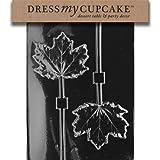Dress My Cupcake DMCF081 Chocolate Candy Mold Large Maple Leaf Lollipop