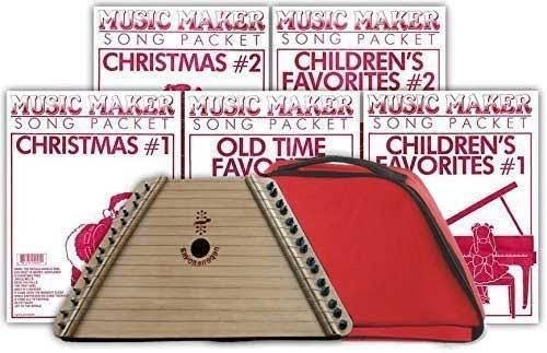 Music Maker Lap Harp + Carrying Case + Music Packs (5): Music Maker Gift Pack (Music Maker Lap Harp compare prices)