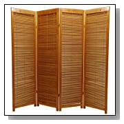Wood Panel Folding Partition Floor Screen