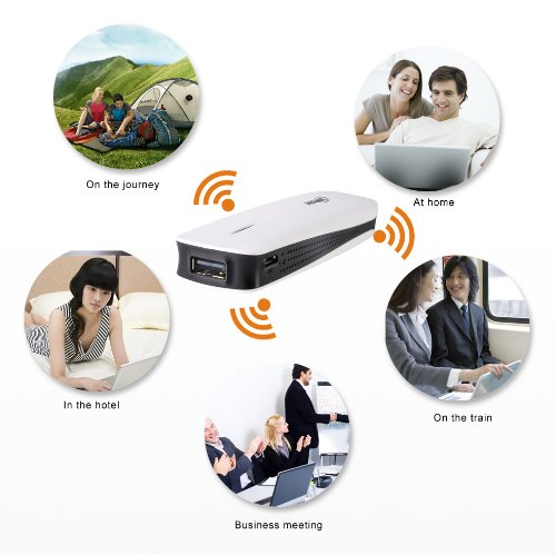 Docooler 3 In 1 Hame Mpr-A1 Mini Wireless Router 3G/Wi-Fi 150Mbps With 1800Mah Power Bank 3G Hotspot Usb