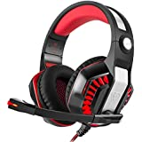 Gaming Headset Over-Ear Gaming Headphones With Volume Control USB 3.5mm Noise Cancelling Earphones Built-in Mic...