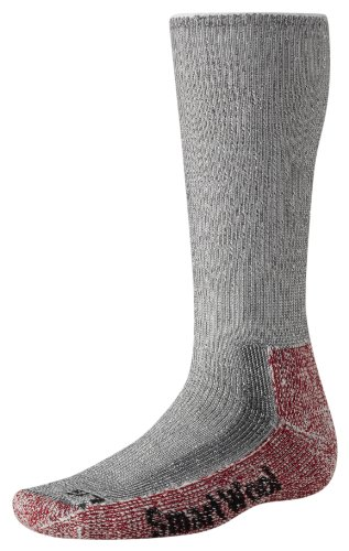 Smartwool Socks - Performance Mountaineering Extra Heavy Crew Grey/Crimson, XL