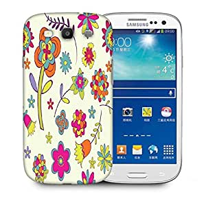 Snoogg Colorful Flower Printed Protective Phone Back Case Cover For Samsung S3 / S III