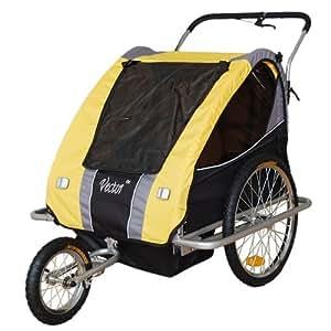 Jogger Remorque à Vélo 2 en 1, 1 à 2 enfants -- jaune 31308-02