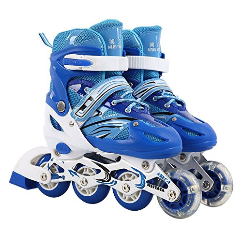 Roller Skates for Kids|Adjustable Inline Roller Derby Illuminating Front Wheels,Safe and Durable Rollerblades Perfect for Boys and Girls| (Rolling Blades compare prices)