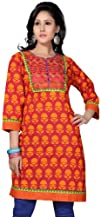 Indian Tunic Top Long Kurti Womens Embroidered Cotton Blouse