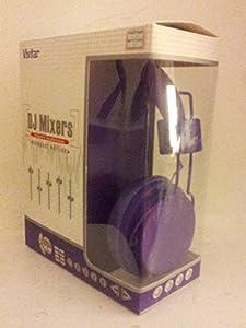 Vivitar Dj Mixers Foldable Purple Headphones Compact and Limited Edition