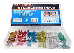 120 Assorted Car Truck Mini Fuse 5,7.5,10,15,20,25,30 AMP