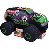 "Grave Digger Plush Truck Pillow - Measures Approximately 10"" X 15"" X 16"""