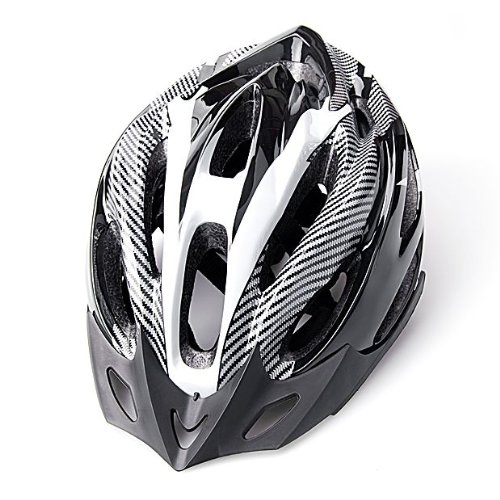 Universal Cool Black Adult Bicycle Mountain Bike Helmet With Built-In Visor Carbon Colour Looks High Quality Plastic Foam Interior front-605567