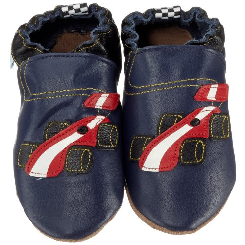 Robeez Infant/Toddler Race Car Soft Sole Crib Shoe