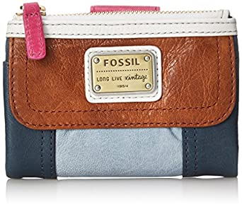 Fossil Emory Multifunction Wallet, Blue Multi, One Size
