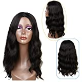 """Feibin Synthetic Wigs For Black Women Natural Wavy Style Black Color 22"""""""