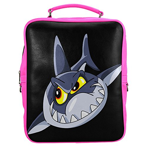 household-dream-customize-3d-animal-shark-rucksack-pu-leather-square-backpack-front-wall-zippered-sc