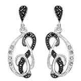 Silvantra American Diamond Silver Earrings