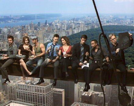 ブロマイド写真★海外ドラマ『CSI:ニューヨーク』キャスト8人・空中/マック・テイラー(ゲイリー・シニーズ)