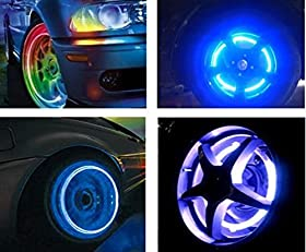 DAYAN Car/ Bike/ Motorcycle Valve Cap Tyre Wheel Fireflys Lamp LED Light Blue