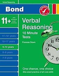 New Bond 10 Minute Tests Verbal Reasoning 9-10 Years