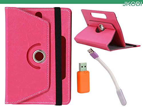 Jkobi Combo of Tablet Book Flip Flap Case Cover With LED Light & Card Reader Compatible For Acer Iconia A1-713 -Pink  available at amazon for Rs.240