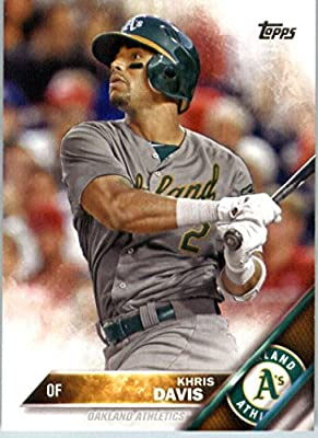 2016 Topps Series 2 #598 Khris Davis Oakland Athletics Baseball Card