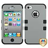 Product B00CBX0KRW - Product title MYBAT Rubberized Gray/Black TUFF Hybrid Phone Protector Cover for APPLE iPhone 4S/4