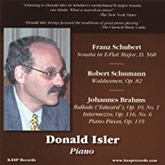 Plays Music of Schubert Schumann & Brahms