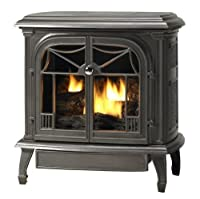 Cast Iron Stove with Vent-Free Natural Gas Burner System