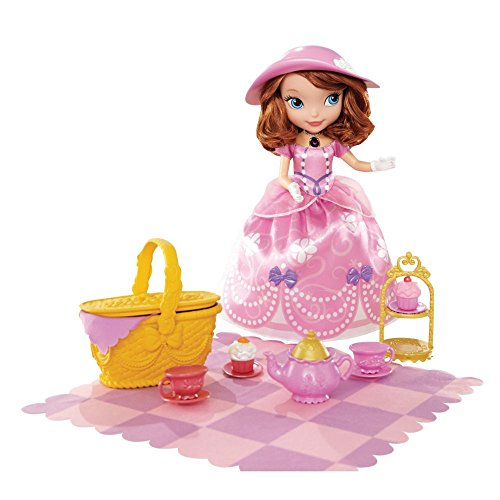 Disney Sofia The First Tea Party Picnic Doll &Amp; Play Set