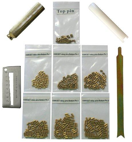 Kwikset Bottom Pins With 4 Tools Rekey Kit Rekeying Set
