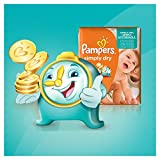 Pampers Couches Simply Dry Jumbo Pack Taille 4 Maxi 7 à 18 Kg X 74 Changes - Lot de 2 (148 couches)