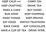 Lindsay Mason Designs A6 Keep Calm and Clear Stamp, Transparent