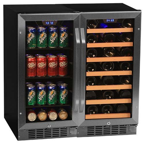 Discover Bargain Edgestar 30 Bottle + 80 Can Side-by-Side 30 Wide Wine & Beverage Center