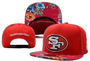NEW NFL San Francisco 49ers Hat Adjustable Snapback Cap Flower Red