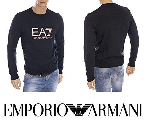 FELPA UOMO EMPORIO ARMANI ART 274716 6P280 02836 COLORE NOTTE MISURA A SCELTA (S, NOTTE)