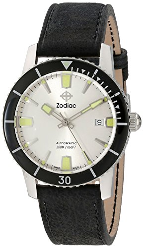 Zodiac Men's ZO9251 Heritage Analog DisplaySwiss Automatic Black Watch (Zodiac Super Sea Wolf compare prices)
