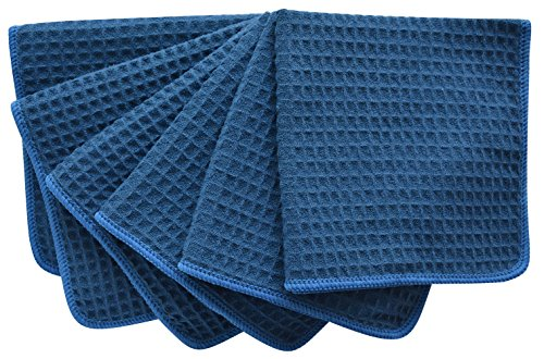 sinland-thick-microfiber-waffle-weave-dish-cloths-cleaning-cloth-33cmx33cm-dark-navy-blue