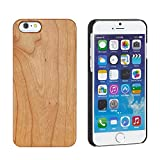 iPhone7 ケース カバー 木製 ナチュラル ウッド ハードケース / チェリーウッド