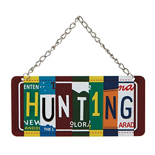 """Hunting"" License Plate Collage Christmas Tree Ornament"