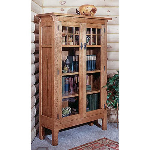 Arts and Crafts Bookcase Mission Style: Downloadable Woodworking Plan