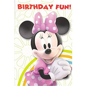 Disney Minnie Mouse Happy Birthday Card - General Open