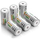 EBL® 10000mAh Ni-MH Rechargeable D Batteries, 6 Pack