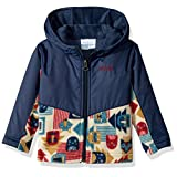 Columbia Baby Boys' Steens MT Overlay Hoodie, Collegiate Navy Critter Blocks, 18-24 Months
